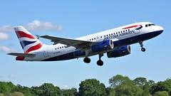 G-EUPR (AnDyMHoLdEn) Tags: britishairways a319 oneworld egcc airport manchester manchesterairport 23l