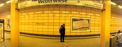 Weberwiese Bahnhof (rrrisotto) Tags: horizonperfekt horizon202 panoramic swinglens 35mm barcelona fuji200