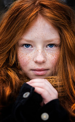 Ginger Lady (ladislavmadaj) Tags: ginger redhair young girl beauty lady blueeyes winter portait canon canonphoto photo photography freckles cute hair naturallight eyes 6dmkii