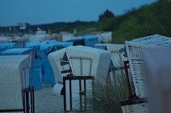 Beach chairs after sunset | Tair11A 135mm f/2.8 M42 | IMGP7708c (horschte68) Tags: night nightshot 20160710 koserow insel usedom isle baltic sea ostsee germany deutschland juli 2016 strand panorama landschaft landscape scenery blue hour summer perspektive perspective zusammensetzung zusammenstellung manual focus prime lens sommer beachchairsaftersunset outside manuallens vintagelens tair11a135mmf28m42 pentaxk50 maritimeatmosphere