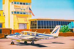 Sacramento Airport (Thomas Hawk) Tags: america california crockerartmuseum museum ralphgoings sacramento sacramentoairport usa unitedstates unitedstatesofamerica airplane airport painting photorealism fav10 fav25