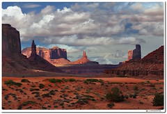 Towering Sandstone Buttes (our cultural archive) Tags: monumentvalley utah redsanddesertregion landscape desertlandscape valleyoftherocks monumentvalleynavajotribalpark coloradoplateau