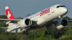 HB-JCG (AnDyMHoLdEn) Tags: swiss airbus a220 a220300 bombardier cs300 lufthansagroup staralliance egcc airport manchester manchesterairport 23l