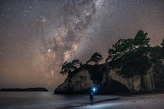 Milky way over Cathedral Cove, New Zealand (tomoyaosa) Tags: astrophotography astroscape astro hahei seascape landscape longexposure milkyway newzealand nikon night nz nightscape nature beach starry samyang24mm d750