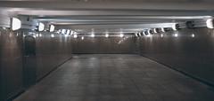 DSCF4862 (Mike Pechyonkin) Tags: 2019 moscow москва night ночь lamp фонарь underground walkway подземный переход reflection отражение