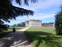 National trust (daveandlyn1) Tags: house attinghampark nationaltrust trees parkland pathway person nikon s9100 coolpix