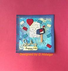 Sending happy mail (Craftyscifinerd) Tags: sssflickrchallenge127 simonsaysstamp iostamps handmadecards cardmaking