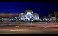 Palacio de Bellas Artes, Mexico City, Mexico (Sam Antonio Photography) Tags: night traffic tourist tourism destination palaciodebellasartes finearts mexicocity architecture attraction urban culture travel mexico artistic exhibition art famous museum mexican palaceoffinearts opera theater gallery downtown cultural landmark palace bellasartes holiday people vacation history historic
