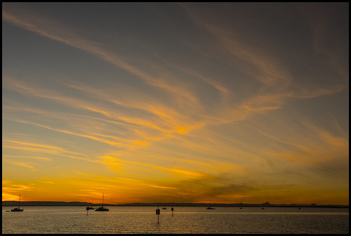 Sunset Cloud over Deception Bay from Scarborough-4=