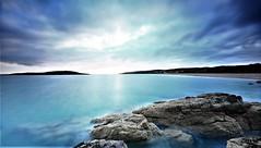 Long exposure Gairloch sundown (Red Not Rab) Tags: sunset longexposure seascape blue gairloch scotland horizon clouds