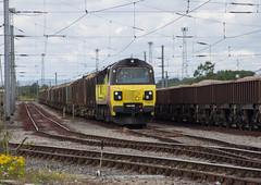 70 814 departing Kingmoor Yard. (Marra Man) Tags: colasrailfreight class70 class708 70814 6j37 carlislenetworkyard kingmooryard