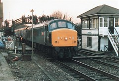 45104 The Festive Fiddler Uckfield December 1986 (clivepsmithmarch1960) Tags: 45104 uckfield thefestivefiddler