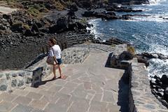 Los Abrigos, Tenerife, Canary Islands (wildhareuk) Tags: beach canaryislands canon canoneos500d losabrigos promenade sea seascape spain susan tamron18270mm tenerife tenerife2019 village water railing rock steps tamron img9524dxo