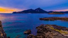 Allá, cuando el sol se iba. (Jesus_l) Tags: europa españa islasbaleares palmademallorca andratx sadragonera mar jesúsl