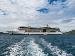 Radiance of the Seas (AndrewL AU) Tags: cruiseships ocean radianceoftheseas royalcaribbean sea shipping cruise wake water