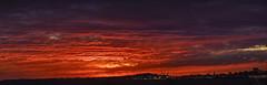 Post Eclipse Pano (#maxilopezca) Tags: eclipse post after later sun sunset moon montevideo bahía bay puerto cerro seascape landscape fire sky cielo paisaje mar sea agua water nikon z6 sigma panoramic