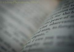 The Words (SoS) (13skies) Tags: picofpaper smiling words smileonsaturday oldbook paper type print book volume saturday macro macroscopic depthoffield shallowdepthoffield closer sonyalpha100 a100 angle theme