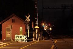 (JoTomOz) Tags: melbourne sunstar starburst railroad night