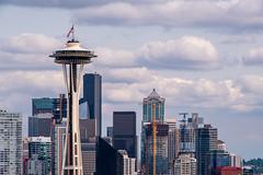 Skyline of Seattle (Chen Yiming) Tags: seattle city urban tower skyline washington cityscape dusk unitedstatesofamerica pacificnorthwest spaceneedle washingtonstate