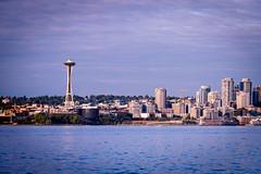Skyline of Seattle (Chen Yiming) Tags: washington unitedstatesofamerica seattle skyline cityscape city urban spaceneedle tower dusk washingtonstate pacificnorthwest