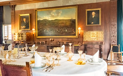Castle Drogo Dining Room (canong2fan) Tags: devon drogocastle england fujifilmxt2 uk fujinonxf1855mmlens glasses indoors linen portraits room table nationaltrust