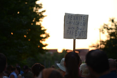 Sunset at Lights for Liberty: A Vigil to End Human Detention Camps (Fibonacci Blue) Tags: stpaul twincities minnesota protest detention vigil child demonstration immigrant event dissent trump outcry outrage ice immigration sign