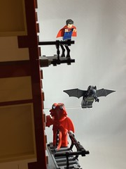 2019-193 - Flying Friday (Steve Schar) Tags: dragonguy superheroes flying flight superman batman minifigure lego iphonexs iphone project365 sunprairie wisconsin 2019