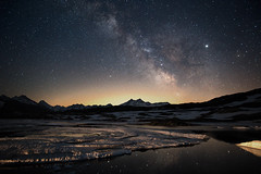 Grimsel at night (maekke) Tags: grimsel milkyway night astro astrophotography totensee alps mountain mountains reflection lake color sky snow 2019 canon eos6d 24mm ch switzerland