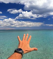 Hold my hand (Robyn Hooz) Tags: mano hand vendicari noto nuvole cielo sky acqua mani hold tenere