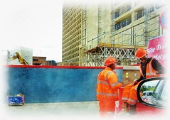 the Workers .. (John(cardwellpix)) Tags: workers building new improved woking town centre