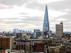 Looking at SE1 (Steve Taylor (Photography)) Tags: london se1 londonbridge shard guyshospital architecture building uk gb england greatbritain unitedkingdom autumn cloud