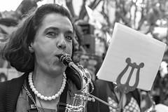 La Saxophoniste (Xtian du Gard) Tags: xtiandugard portrait femme woman nb bw musicien musicienne saxophone nîmes gard france