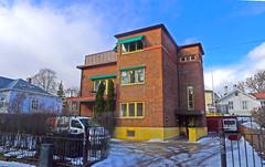 Brick building (Leifskandsen) Tags: building house brick red spring norway oslo camera leica living leifskandsen skandsenimages scandinavia skandsen