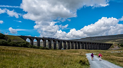 Ribblehead (Peter Leigh50) Tags: ribblehead viaduct yorkshire fells sky clouds path road railway railroad rail rural train track people fujifilm fuji xt2