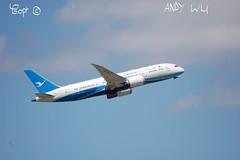 Boeing 787-9 Xiamen Airlines (Starkillerspotter) Tags: xiamen airlines paris cdg airport takeoff airplane boeing 7879 dreamliner sky clouds