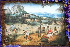 """""""La Fenaison"""" 1565 Pieter Brueghel l'Ancien, Toile exposée au Lobkowicz Palace of Prague Castle, Prague, reproduction au Château de Grand-Bigard, Dilbeek, Brabant flamand, Belgium (claude lina) Tags: claudelina belgium belgique belgië châteaudegrandbigard grandbigard dilbeek brabantflamand floraliabrussels painture painting oeuvre tableau pieterbrueghellancien lafenaison"""