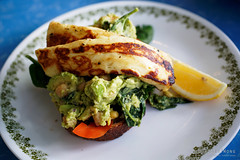 20190708-10-Avocado and haloumi toast at Machine Laundry Cafe in Hobart (Roger T Wong) Tags: 2019 australia hobart machinelaundrycafe rogertwong tasmania avocado cafe chickpeas food haloumi lunch toast