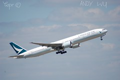 Boeing 777-300ER Cathay Pacific (Starkillerspotter) Tags: hkg cathay pacific boeing 777300er paris cdg airport takeoff afternoon aircraft flight