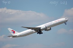 Boeing 777-300ER China Eastern Airlines (Starkillerspotter) Tags: china eastern airlines boeing 777300er paris cdg airport sky takeoff clouds shanghai