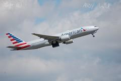 Boeing 777-200ER American Airlines (Starkillerspotter) Tags: american airlines boeing 777200er paris cdg airport plane takeoff clouds sky