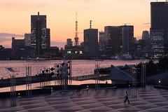 Tokyo Bay Evening (seiji2012) Tags: japan tokyo harumi sunset tokyotower illuminate 晴海ふ頭 東京湾 東京タワー 日没 シルエット silhouette happyplanet asiafavorites