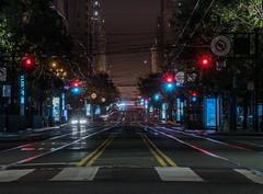 2am on market street (pbo31) Tags: bayarea california night dark black city july 2019 summer boury pbo31 nikon d810 color sanfrancisco urban lightstream traffic roadway motion infinity financialdistrict marketstreet