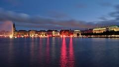 Binnenalster by night (shodan_f) Tags: hamburg night cityscape illuminated reflection