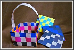 colorful squares :) (green_lover (your COMMENTS are welcome!)) Tags: paper basket smileonsaturday picofpaper squares frame