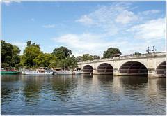 River Crossing (Mabacam) Tags: 2019 london richmonduponthames richmond kingstonuponthames kingston river thames riverthames sky clouds boats outdoor bridge architecture