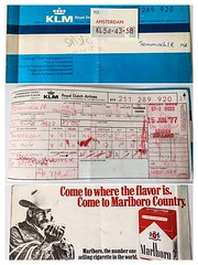 From the old times when airline tickes were called passenger tickets and KLM was all Dutch. (Rudike) Tags: 1977 travelling ticket passengerticket airlineticket royaldutchairlines klm picofpaper smileonsaturday