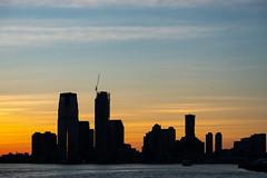 Jersey city (Nathalie Falq) Tags: hudson manhattan nyc newyork architecture building eau fleuve formatpaysage heurebleue immeuble nuit paysage paysageurbain fujifilmxt2 xf55200mmf3548rlmois fujifilm