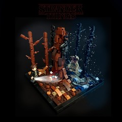 Stranger Things Season 1 - The Monster (KevFett2011) Tags: kevfett2011 lego art hobby stranger things demogorgon nancy jonathan wood upside down tree dark edit bricks build building afol 2019 creation moc vignette
