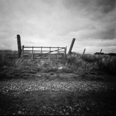 Moorland Gate (Richie Rue) Tags: gate moors moorland landscape intimatelandscape pinhole lensless 6x6 mediumformat square 120 rollfilm foma retropan320s caffenol outdoors monochrome blackandwhite mindfulphotography contemplativephotography ishootfilm istillshootfilm filmsnotdead yorkshire northern fineart