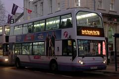 WJ55 CTE, Commercial Road, Portsmouth, November 28th 2016 (Southsea_Matt) Tags: wj55cte 32767 route7a first hantsdorset eastlancs myllennium lolyne commercialroad portsmouth hampshire england unitedkingdom november 2016 autumn canon 80d bus omnibus transport night